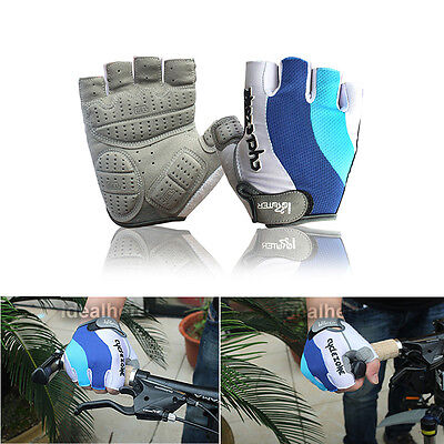 Unisex Breathable Mountain Bike Bicycle Cycling Riding Sports Half Finger Gloves