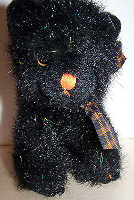 Russ Berrie Black with sparkles plush cat