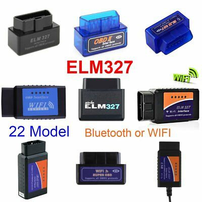 ELM327 OBD2 CAN-BUS Bluetooth or WIFI Car Auto Diagnostic Interface Scanner Lot