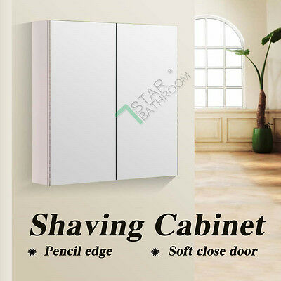 600x720x150mm Pencil Edge Mirror Cabinet Bathroom Vanity Medicine Glass Shaving