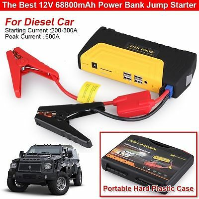 600A Car Vehicle Portable Emergency Jump Starter & Battery Charger 12V 68800mAh