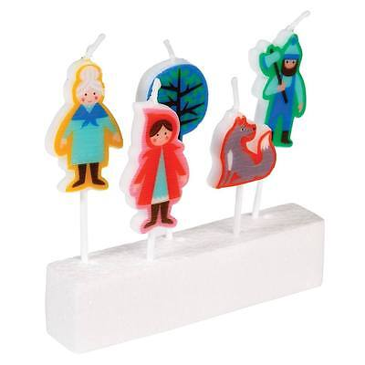 dotcomgiftshop PACK OF 5 RED RIDING HOOD PARTY CANDLES