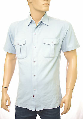 Pale Taille Polo Redskins Chemise Piquée Maille Courtes Bleu Manches n0mw8NvO