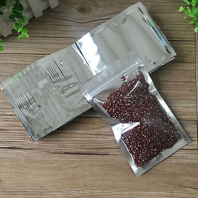 Clear Silver Resealable Ziplock Foil Bags Aluminum Foil Mylar Packaging Pouches