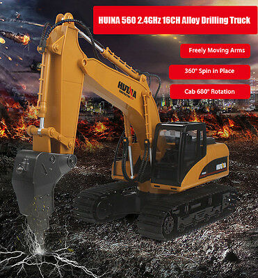 HUINA 560 1:12 2.4GHz 16CH RC Alloy Drilling Truck