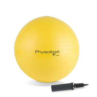 PhysioRoom Gym Swiss Ball 55cm  - Yoga, Anti Burst, Gym, Free Dual Action Pump