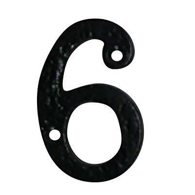 Number 6 or 9 House Number Black Wrought Iron 4H | Renovators Supply