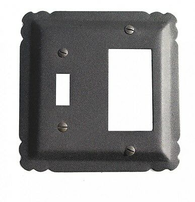Switchplate Black Wrought Iron GFI/Toggle 5 1/4 | Renovators Supply