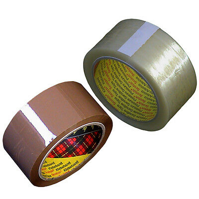 TAPE Brown & Clear HIGH QUALITY Rolls 3M Scotch PARCEL Packaging *MULTI LISTING*