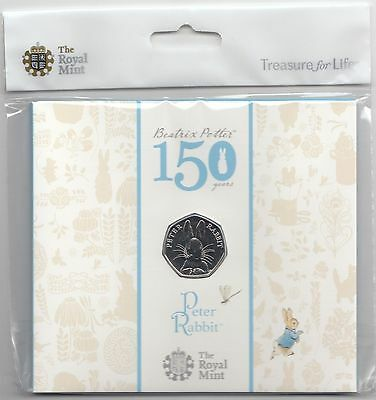 2016 Peter Rabbit BU Fifty Pence 50p Coin 50p BU Unopened