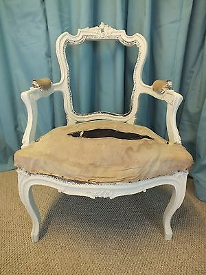 Stunning French rococo upholstered chair frame