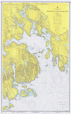 1970 Nautical Chart Map of Frenchman Bay and Mount Desert Island Maine