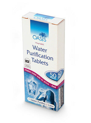 Oasis Water Purification Tablets 50 Tablets