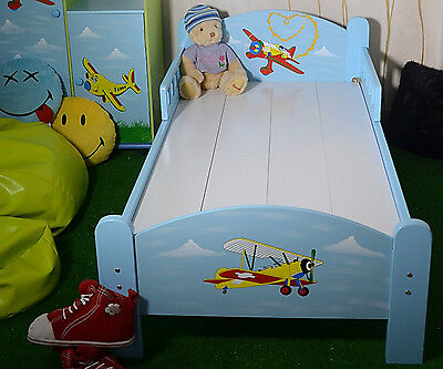 Children's Room Furniture Bed For Child Aeroplanes For Boys Mini Turbo Blue
