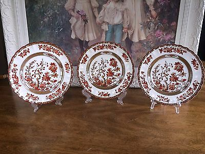 Spode Copeland China Indian Tree Orange Rust Salad Plate Old Mark (S) 8 avail