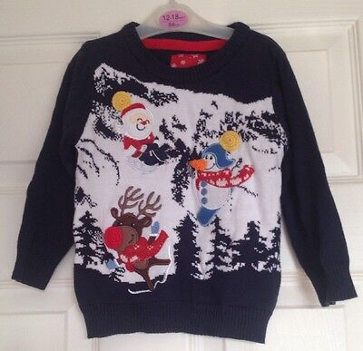 Boys Christmas Jumper Knitted Sweater Xmas Top 12-18 Months NEW BNWT *FREE POST*