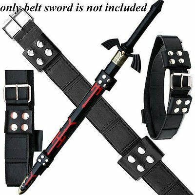 Real leatherSword Frog Belt Strap Sword Black Dark Link legend of Zelda cosplay