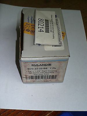 Ruland Manufacturing SCC-22-22-SS Rigid Coupling, Set Screw With Keyways, New