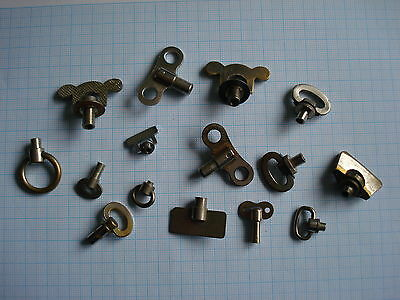 Lot of 15 Vintage Alarm clock Winding Keys