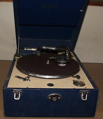 Vintage Decca Model 50 Gramophone Phonograph Portable Turntable C.1920s