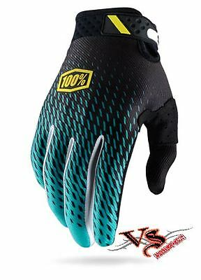 2017 100% Gloves RIDEFIT Supra Teal Motocross Gloves Enduro BMX MTB MX RIDEFIT