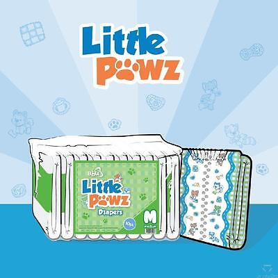ABU Little Pawz Large ABDL Adult Printed Nappies/Diapers