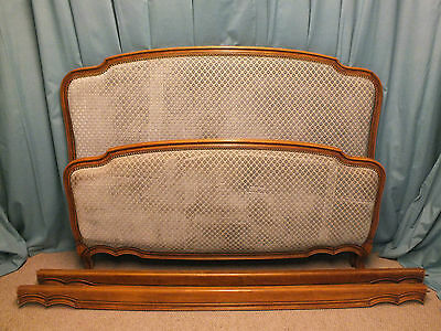 Vintage French upholstered bed (original/found condition )