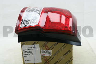 8156113730 Genuine Toyota LENS & BODY, REAR COMBINATION LAMP, LH 81561-13730