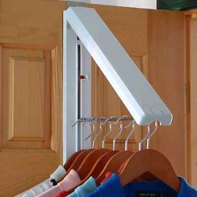 clothes hanging system laundry room wall mount hanger rv closet organizer white
