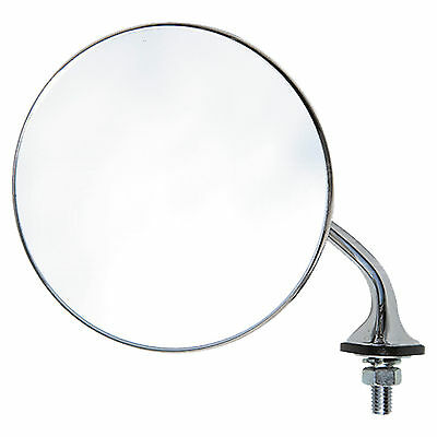 Replacement Mirror Glass - Classic Style Round Wing Mirror - Left