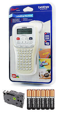 Brother P-Touch Handheld Thermal Label Printer PT-H101C with Tape and Batteries