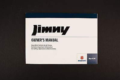 Genuine Suzuki Jimny SN HTOP Owners Manual 99011-81A2D-01E