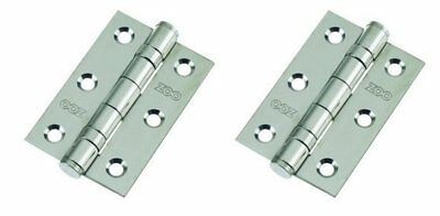 "3"" Ball Bearing Hinges ZOO High quality in Polished Chrome & Satin Chrome"