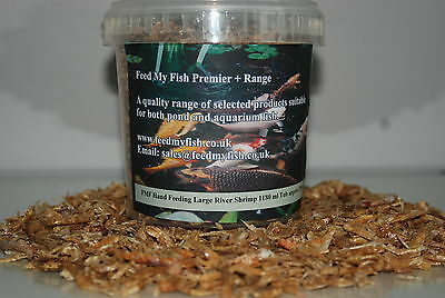 Dried River Shrimp Suitable For Koi Pond Fish Birds & Reptile approx 330g