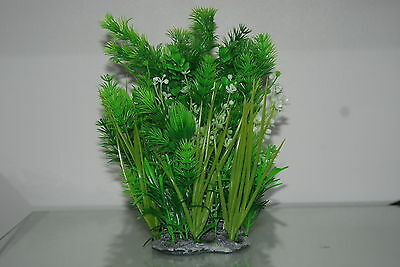 Aquarium Mixed Bushy Plant with Weighted Base 10 x 6 x 23 cms