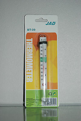 Aquarium Easy Read Glass Thermometer with Suckers Suitable for all Aquariums