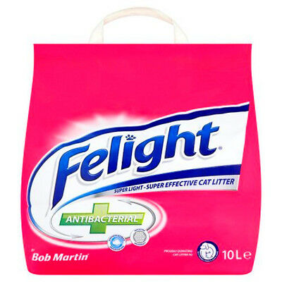 Bob Martin Felight Antibacterial Cat Litter, 10L [ FREE FAST DELIVERY ]