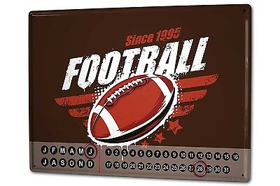 Dauer Wand Kalender Fun Football Metall Magnet