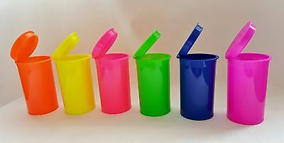 13 Dram Neon Pop Top, NOW CHOOSE YOUR COLORS! Rx plastic container vial crafts