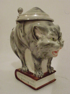 Cat with book Student Beer stein mug Tankard Ernst Bohne and Sons German