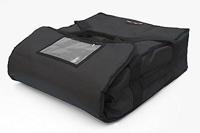 Black Polyester Insulated Pizza / Food Delivery Bag 12″ - 14″- Professional Bag-