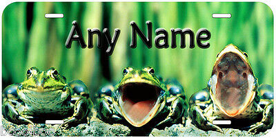 Frog Trio Any Name Personalized Novelty Auto Car Tag License Plate