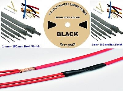 Heat Shrink Tube Cable,Schrumpfschlauch 100 FT-30m from 1 mm to 180 mm - 3⁄64""