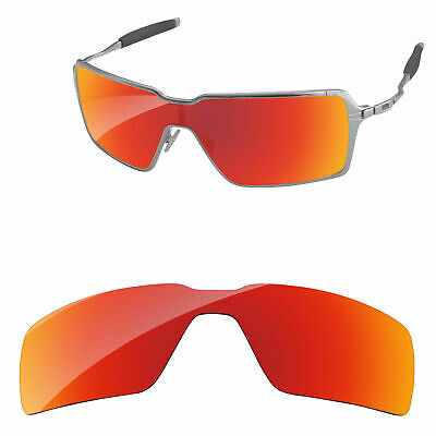 13b02ed192 PapaViva Fire Red Mirror Polarized Replacement Lenses for-Oakley Probation