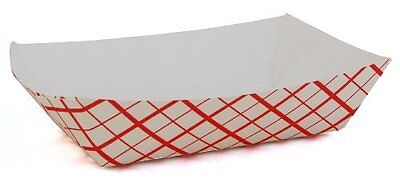 Southern Champion Tray 0401 #25 Southland Paperboard Red Check Food Tray, 1/4-lb