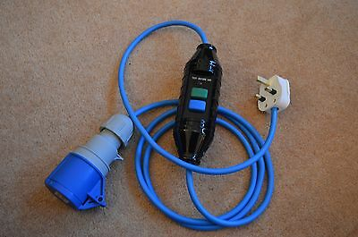 2 Metre 13 AMP To 16 AMP With In-Line RCD Bouncy Castle Blower Fly Lead