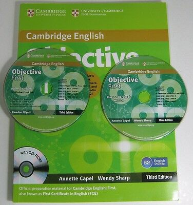 Objective First Studen's Book wth answers and CD-ROM + PM 3 CD Cambridge English