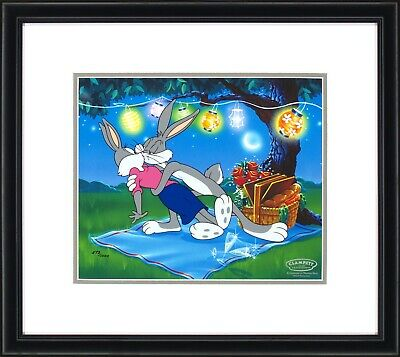Bugs Bunny Enchanted Evening Warner Brothers Framed Sericel LE 1000 10x12 NEW