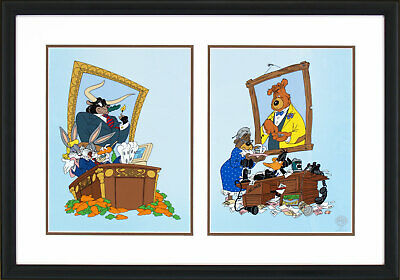 Bugs Bunny More Bull Than Market Can Bear Warner Brothers Framed Sericel LE 5000