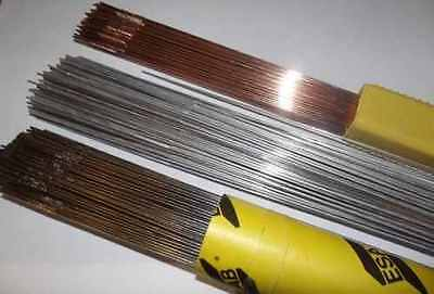Gas Welding Rods Copper Coated Mild Steel Choose Diameter And Qty 333Mm Length